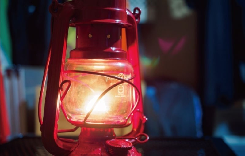 カンテラに「耐熱ガラス(テンパックス)」を使用した事例(福岡県M様)のお写真