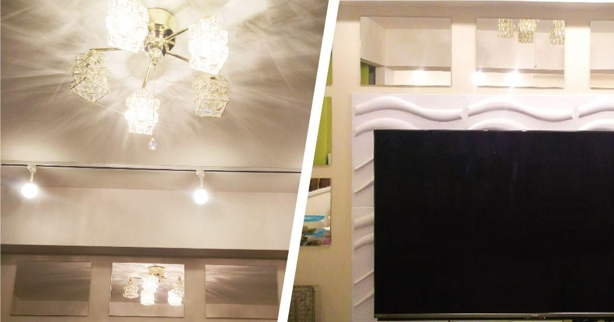 鏡をオシャレなインテリアに!壁面装飾に「ガラスミラー」を使用した事例(神奈川県M様)のお写真