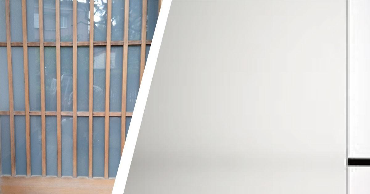 引き戸の割れ替えに「すりガラス」を使用した事例(神奈川県U様)のお写真