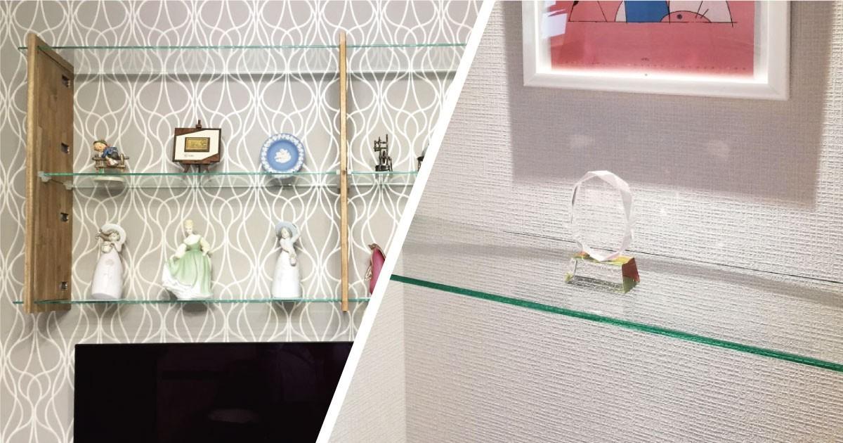 「強化ガラス」を使用してお部屋にオシャレな棚板を設置した事例4選のお写真