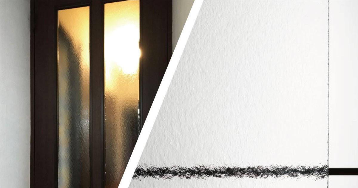 自宅ドアの割れ替えに「型板ガラス(霞)」を使用した事例(神奈川県B様)のお写真