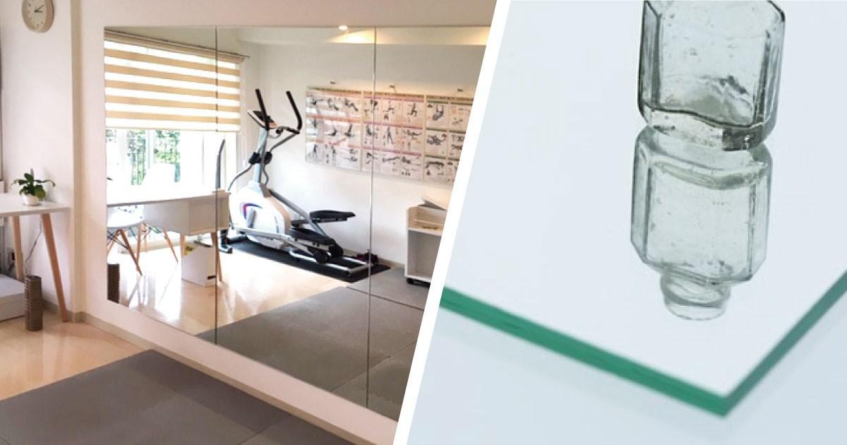 自宅で筋トレ!フォームチェック用の姿見に「ガラスミラー」を使用した事例(東京都T様)のお写真