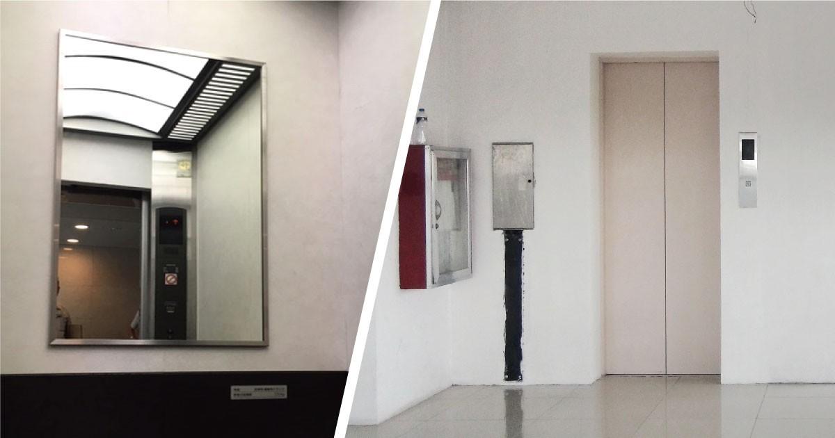 車いすの方も安心!「エレベーター用ミラー」に交換した事例(東京都B様)のお写真