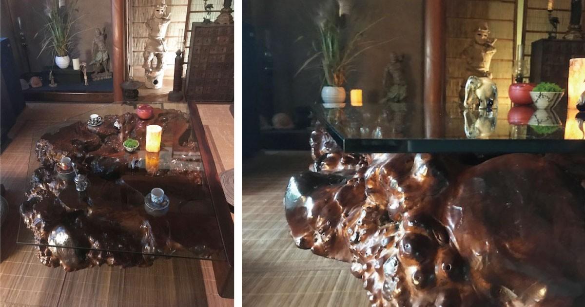オブジェがテーブルに変身!ガラス天板に「強化ガラス」を使用した事例(滋賀県T様)のお写真
