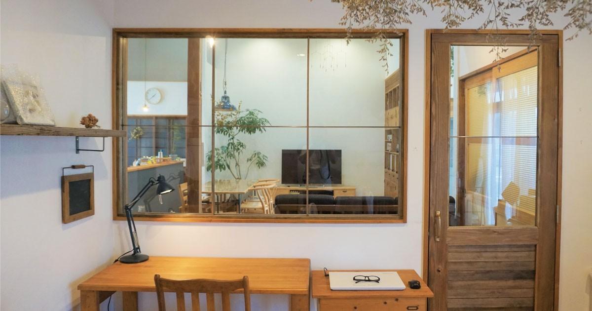 古民家のセルフリノベ―ション!開き戸のガラスに「強化ガラス」を使用した事例(佐賀県T様)のお写真