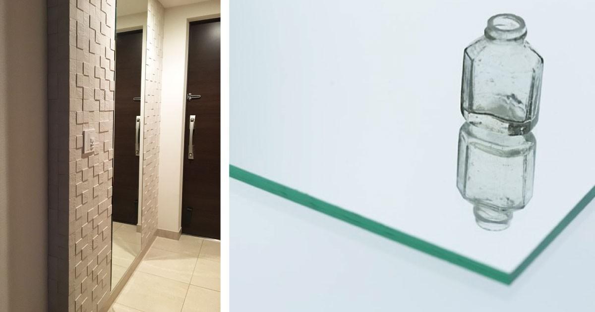 お客様事例 : エコカラットで飾り付け!玄関姿見に「ガラスミラー」を使用した事例(神奈川県M様)
