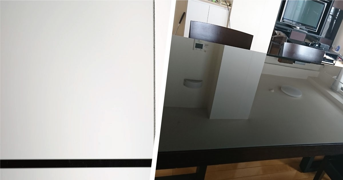 高級感アップ!テーブル天板に「色ガラス グレー」を使用した事例(愛知県T様)のお写真