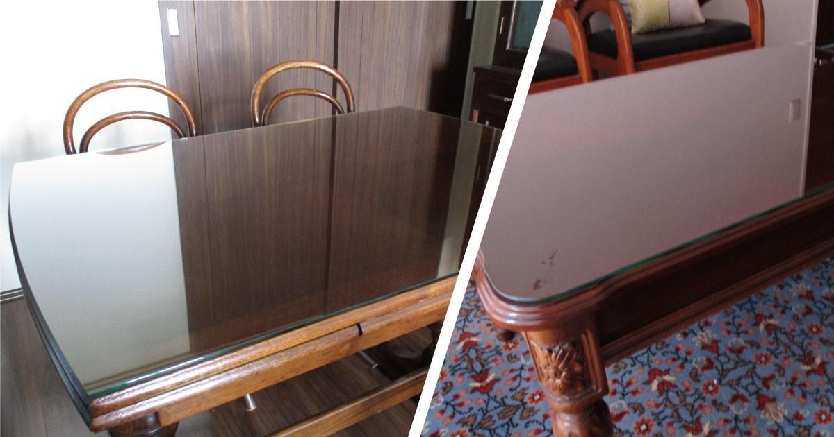 天板で高級感アップ!自宅家具に「強化ガラス」「フロートガラス」を使用した事例(大阪府A様)のお写真