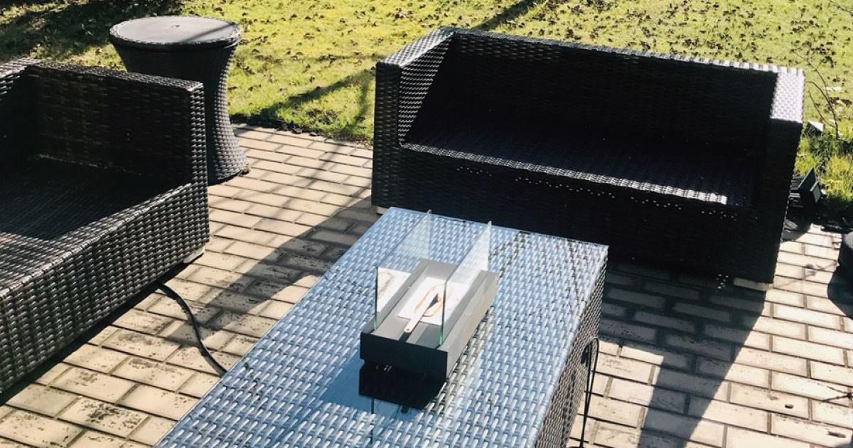 お客様事例 : 外でも安心!屋外のテーブル天板のガラスに「強化ガラス」を使用した事例(千葉県K様)