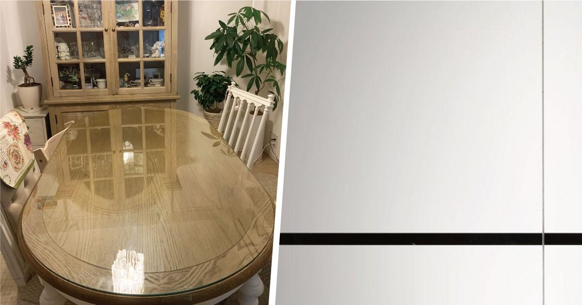 お客様事例 : 小判型のテーブルに!ピッタリサイズのテーブルトップを製作した事例(千葉県Y様)