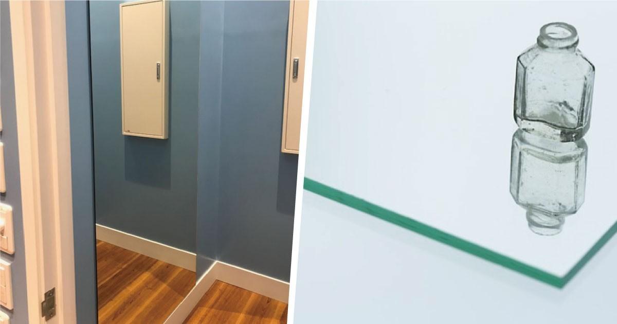 お客様事例 : 爽やかな空間にマッチ!更衣室に「ガラスミラー」を使用した事例(東京都C様)