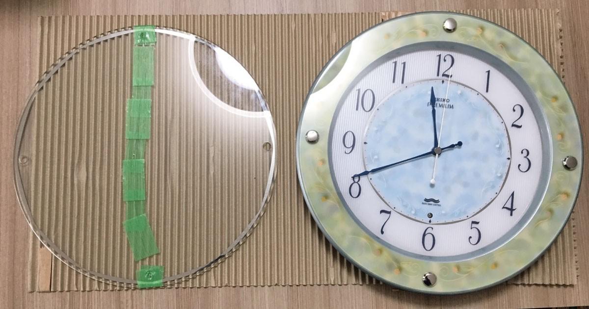 壁掛け用時計のカバーガラスに!「フロートガラス」を使用した事例(大阪府O様)のお写真