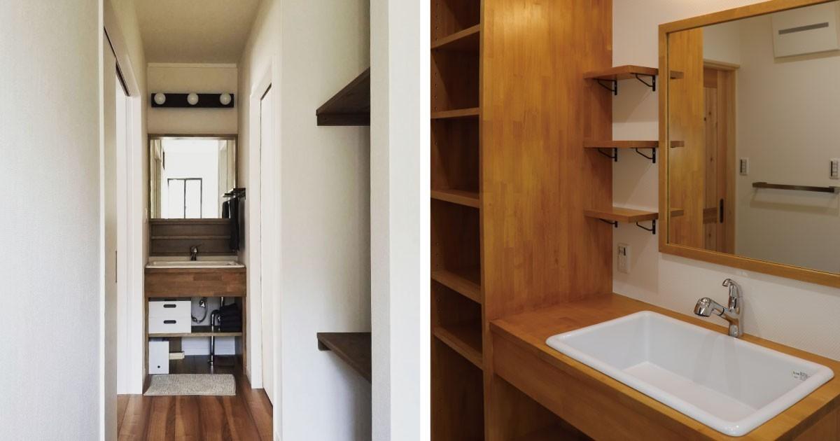 新築のようなキレイな洗面所に!「ガラスミラー」と「防湿ミラー」を使用した事例(三重県K様)のお写真