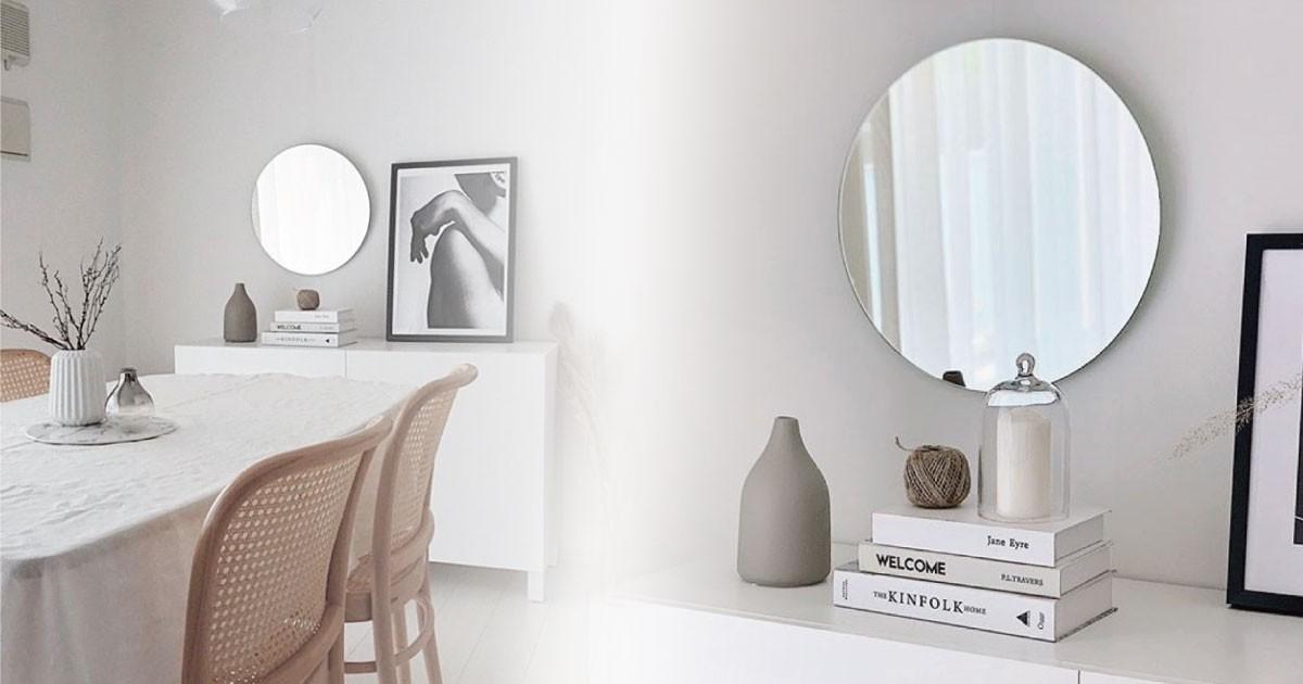 お客様事例 : 鏡で空間を魅力的に!お部屋のインテリアとして「ガラスミラー」を使用した事例(神奈川県Home edge design様)