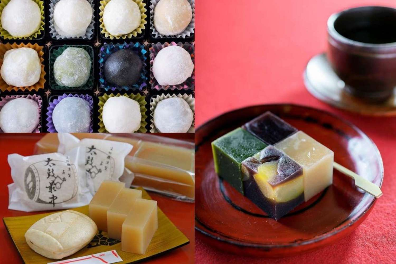 Three selections of good Japanese confectionery shops of Kakegawa who shines in atmospheric cityscape