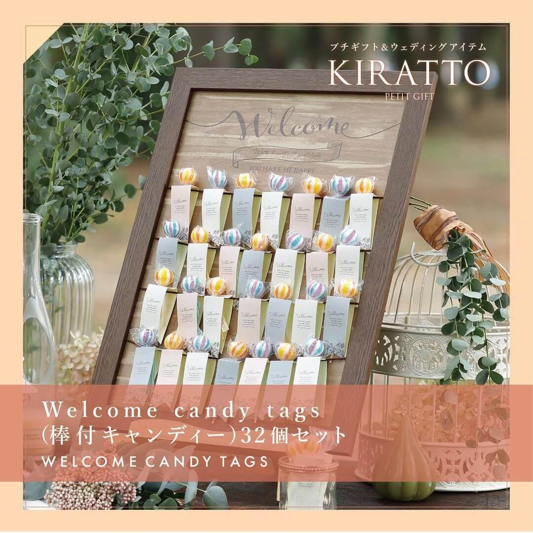 Welcome candy tags