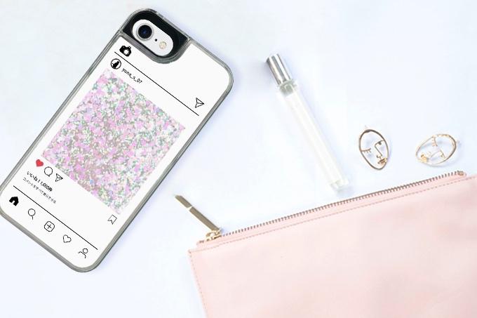 iPhone SE 第2世代 オリジナル グリッターケース トキメキハートケース ハードケース