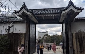 天守閣から豊国神社1