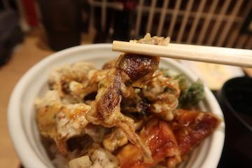 ホタルイカ天丼3