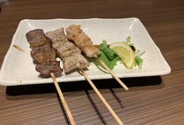 串焼き三種盛り合わせ1