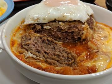 チーズエッグビーフハンバーグステーキ定食3