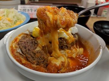 チーズエッグビーフハンバーグステーキ定食4