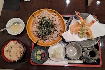天ぷらそば1