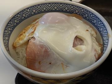 ハムエッグ納豆定食3