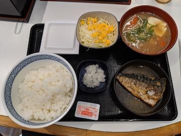 塩鯖納豆定食1