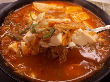 豆腐キムチチゲ鍋膳(実食)