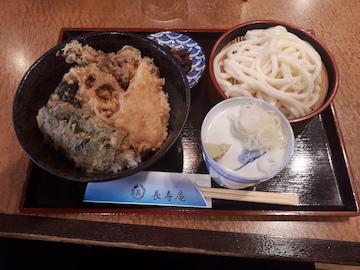平目と野菜の天丼セット1