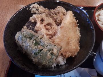 平目と野菜の天丼セット2