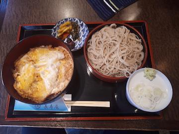 白身魚の天とじ丼セット1