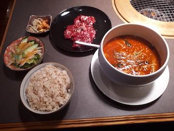 焼肉とスープ1