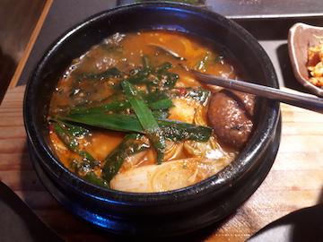焼肉と豆腐チゲ1