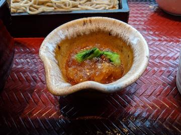 ポン酢ジュレで食べる鰹丼とお蕎麦3