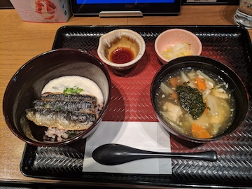 いわとろ丼と手造り豆腐のアカモクすまし汁1