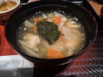 いわとろ丼と手造り豆腐のアカモクすまし汁2