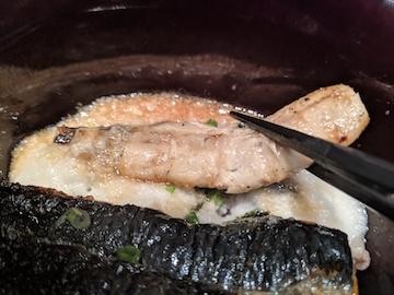 いわとろ丼と手造り豆腐のアカモクすまし汁4