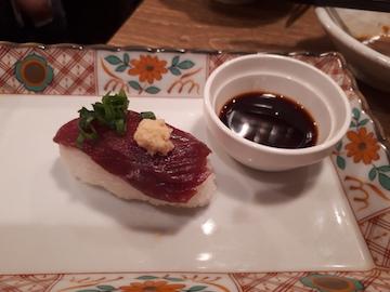 馬赤身寿司1