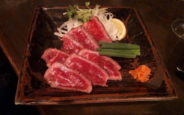 上ラム肉のタタキ1