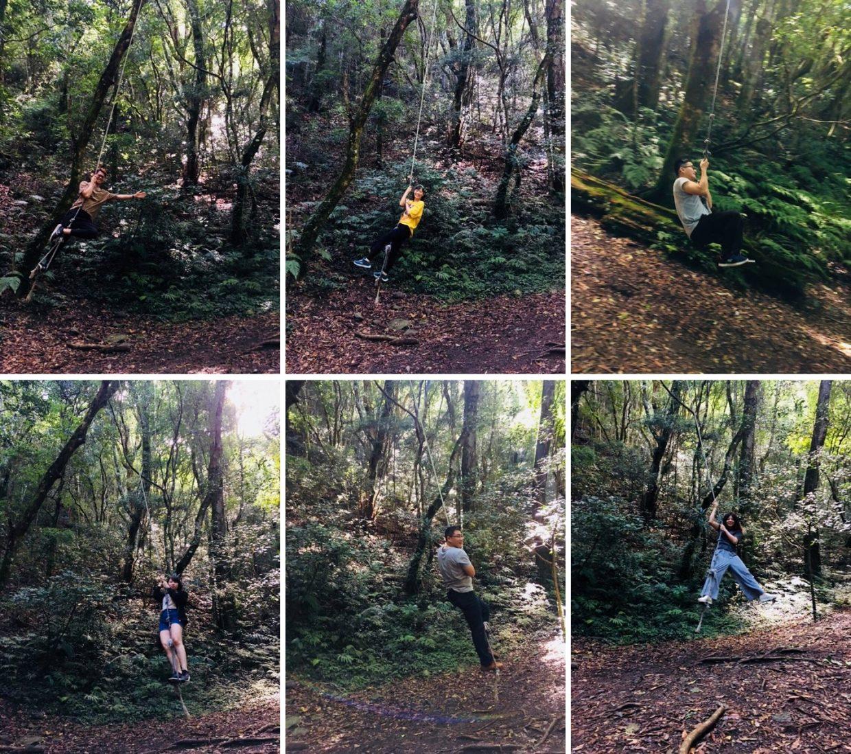 司馬庫斯Koraw生態公園內的盪繩
