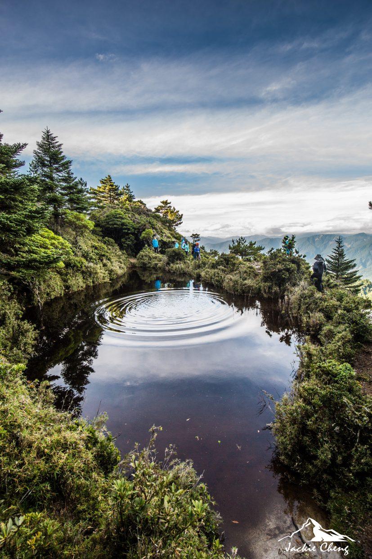 黑水塘旁的台灣池。
