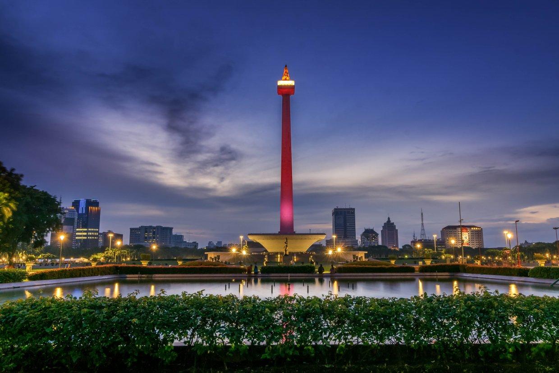 雅加達國家紀念塔夜景