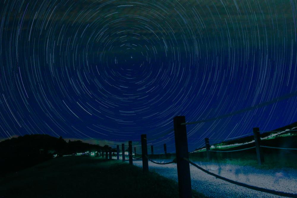擎天岡草原上長曝的星軌