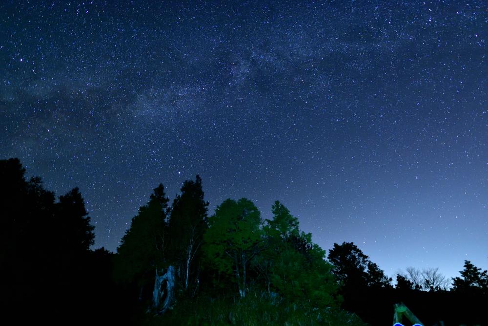 太平山森林遊樂區上的星空