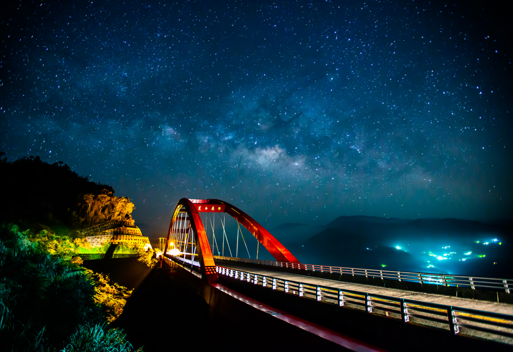 阿里山芙谷峩橋星空