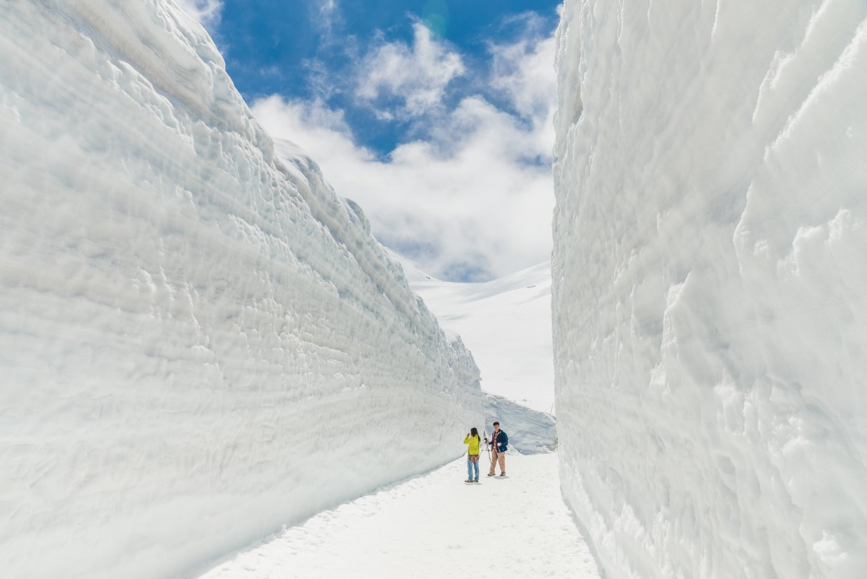 二月時還沒開山的立山大雪谷