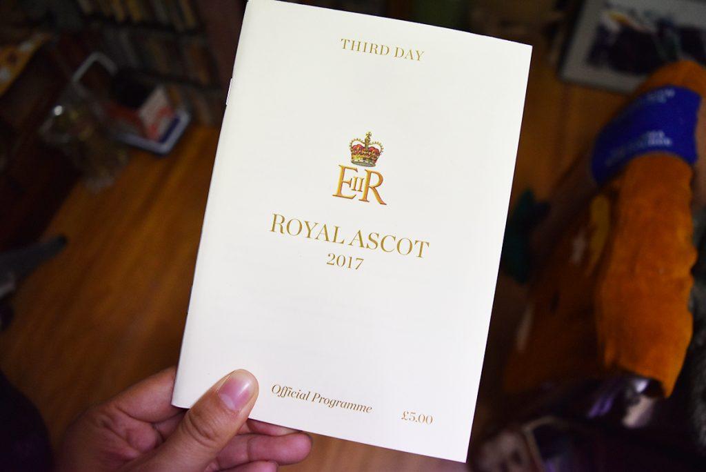 アスコット開催のプログラム(表紙)
