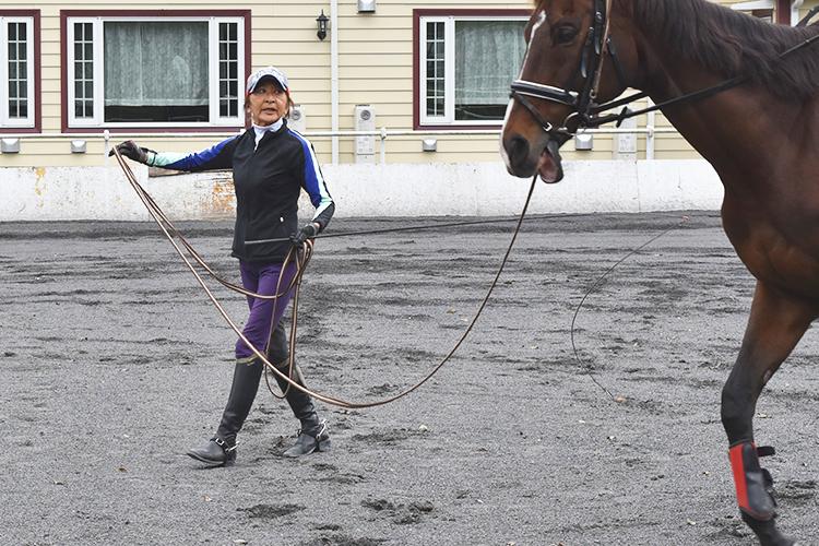 この日、乗せていただいたのは元警視庁騎馬隊に所属していた響輝くん